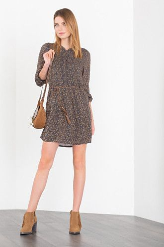 Tie Style Around My Printed Belt Flowing Dress Esprit OztwxqU8n