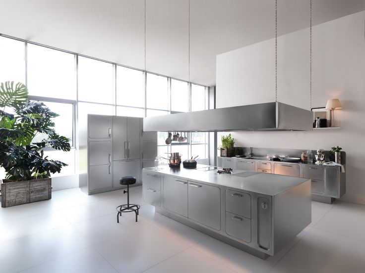 Stainless steel kitchens professional #kitchen for the at-home chef ...