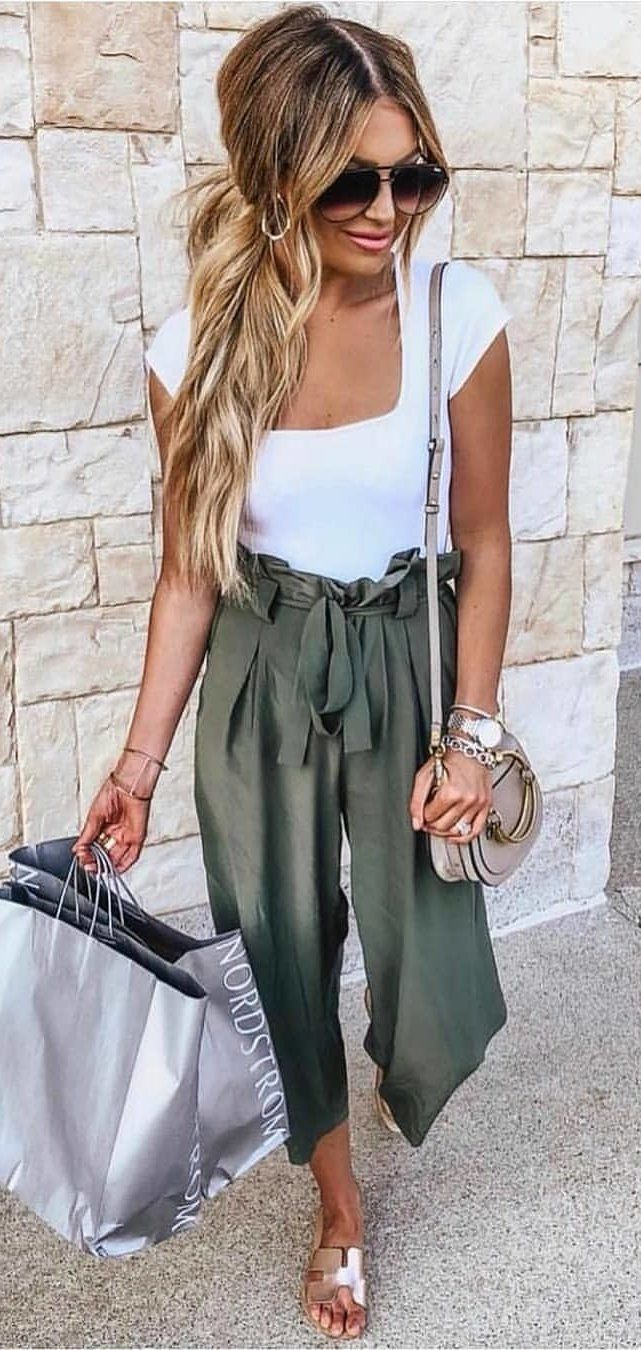 grey pants #summer #outfits  Cute spring outfits, Fashion, Spring