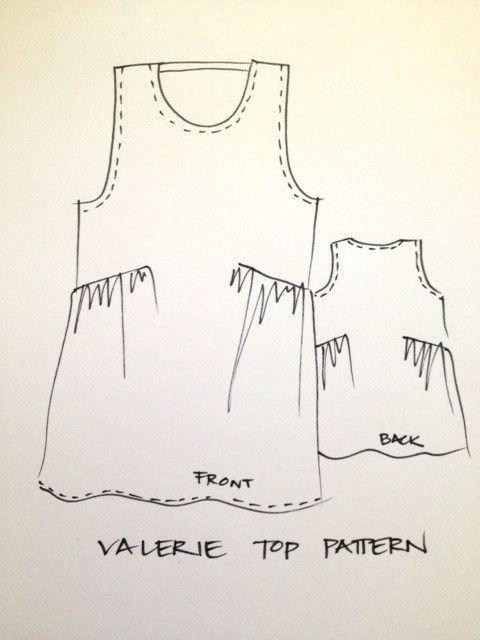 Valerie Top Pattern | Costura, Patrones y Molde