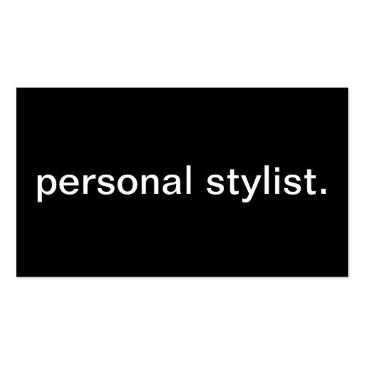 Personal Stylist Business Card