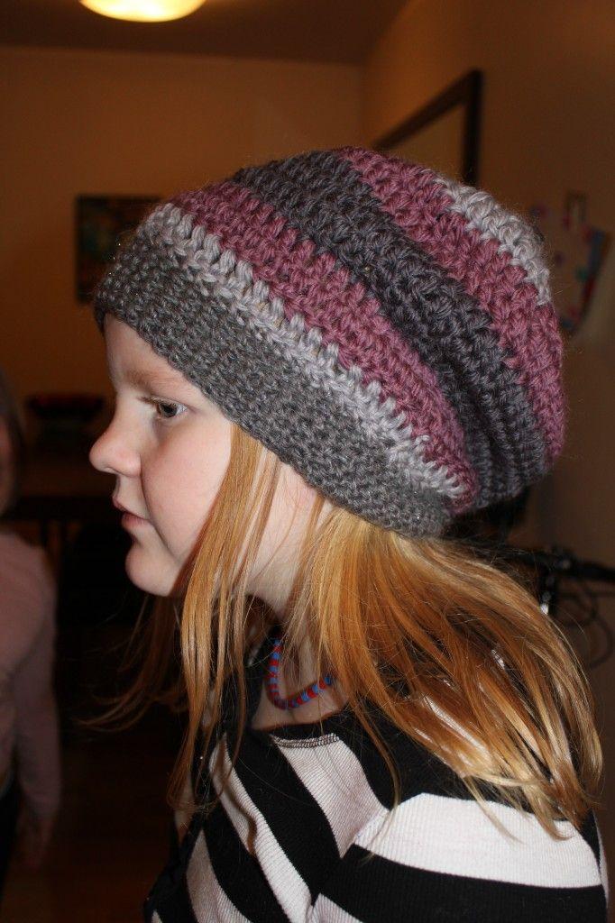 Slouchy hipster hat - crochet | Crochet | Pinterest | Gorros, Dos ...