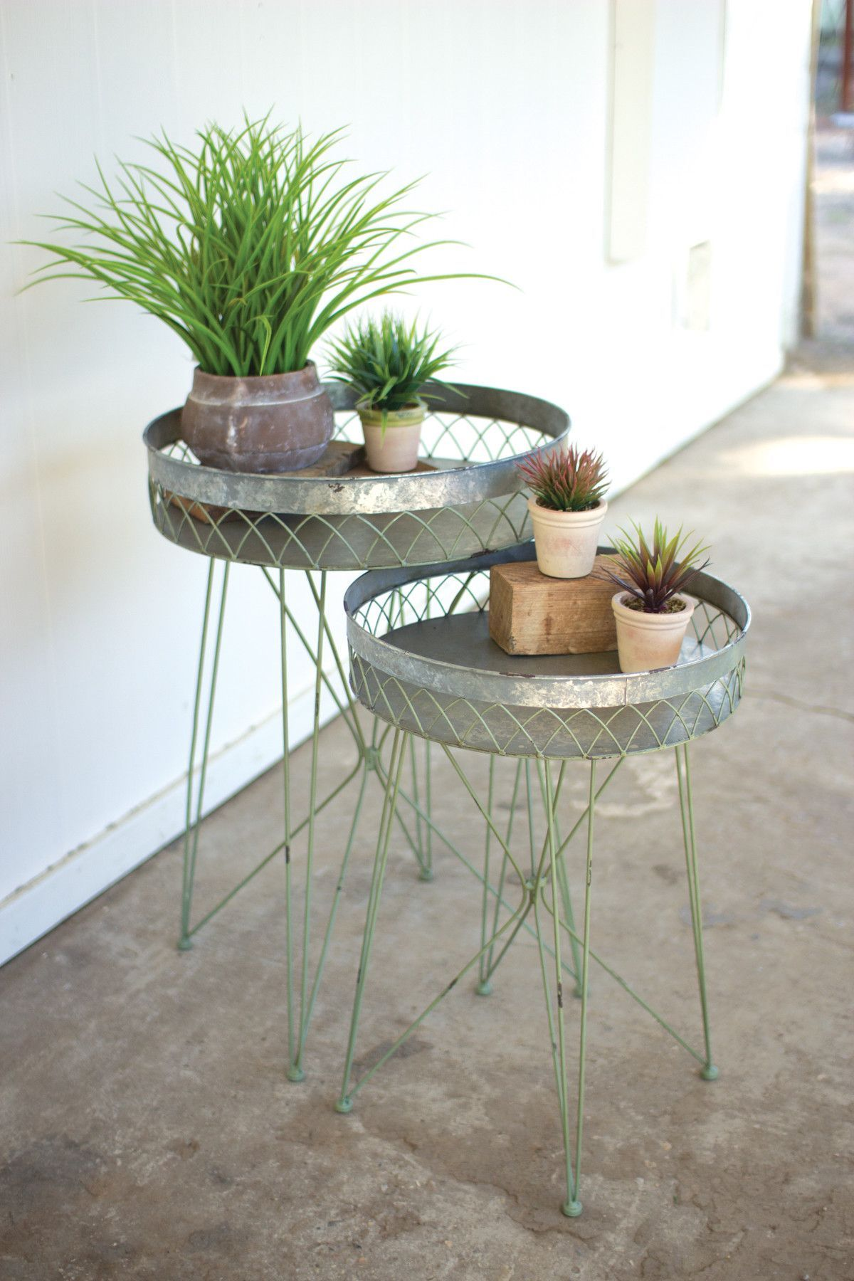 Galvanized Outdoor Coffee Table