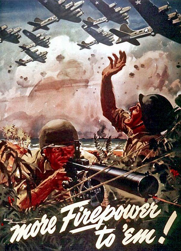 World War II Propaganda poster modern wall decor defense in the air USA