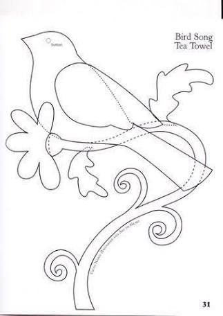 Image Result For Vintage Applique Patterns Embroidery Birds