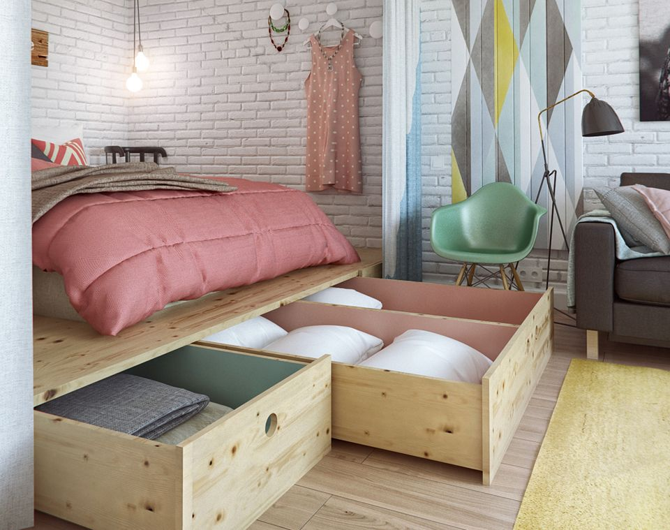 Raise Your Bed On A Platform With Built In Storage To Gain More 24 Creative Ideas That Will Make Room Cool And Chic