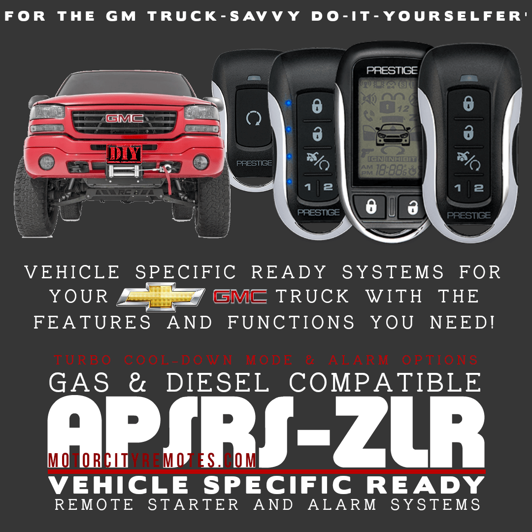 Vehicle Specific Systems For Astro Van Avalanche Blazer Danali Express Van Impala Silverado Tahoe Trailblazer Astro Van Remote Car Starter Gmc Sierra