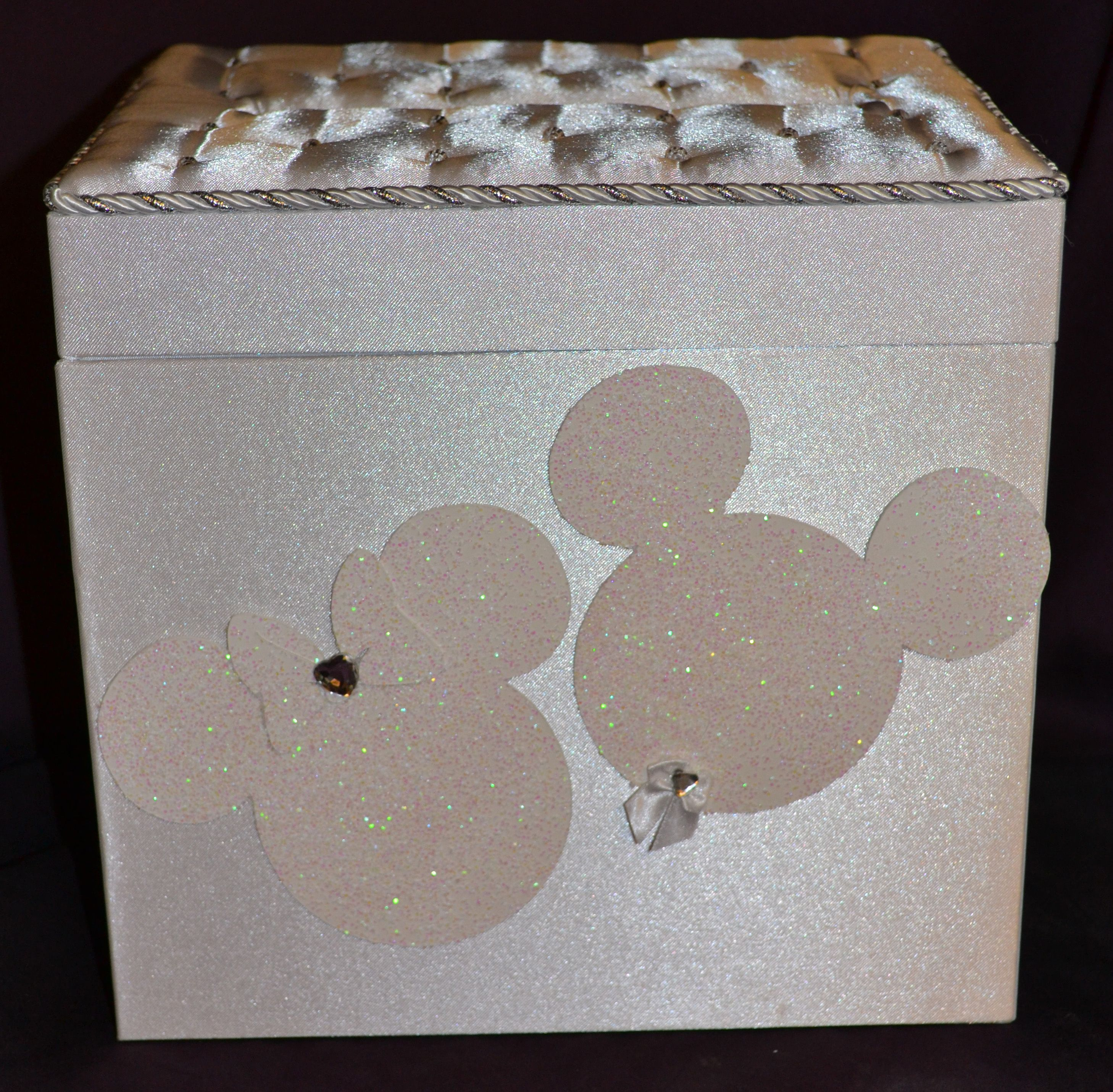 mickey and minnie mouse pearl top guest card box disney wedding Wedding Card Box Disney mickey and minnie mouse pearl top guest card box wedding card box disney