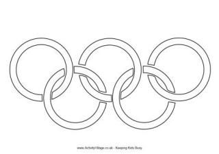 Olympic Rings Colouring Page: Winter Olympics Crafts for