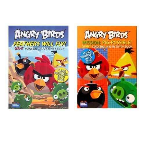 Angry Birds Coloring Book Set Includes 24 Crayons By Maaza 999 You Will Receive The Two Books Pictured And A Box Of