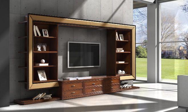 Arredamento Alternativo ~ Libreria porta tv con ala laterale living giovane ed alternativo