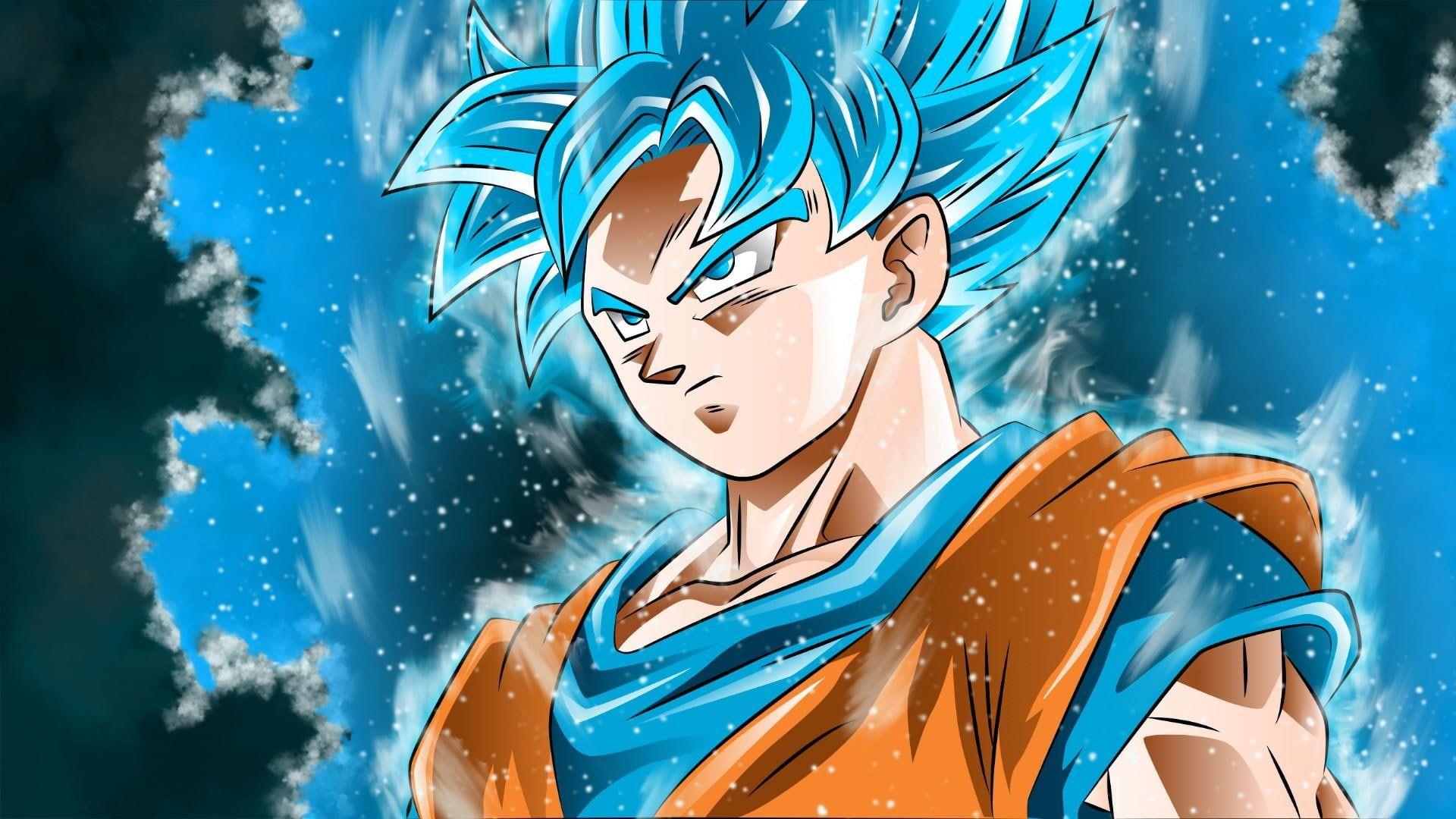 Dragon Ball Ssgss Anime Boy Anime Guy Goku 1080p Wallpaper Hdwallpaper Desktop Dragon Ball Art Goku Anime Anime Dragon Ball 1080p goku blue wallpaper