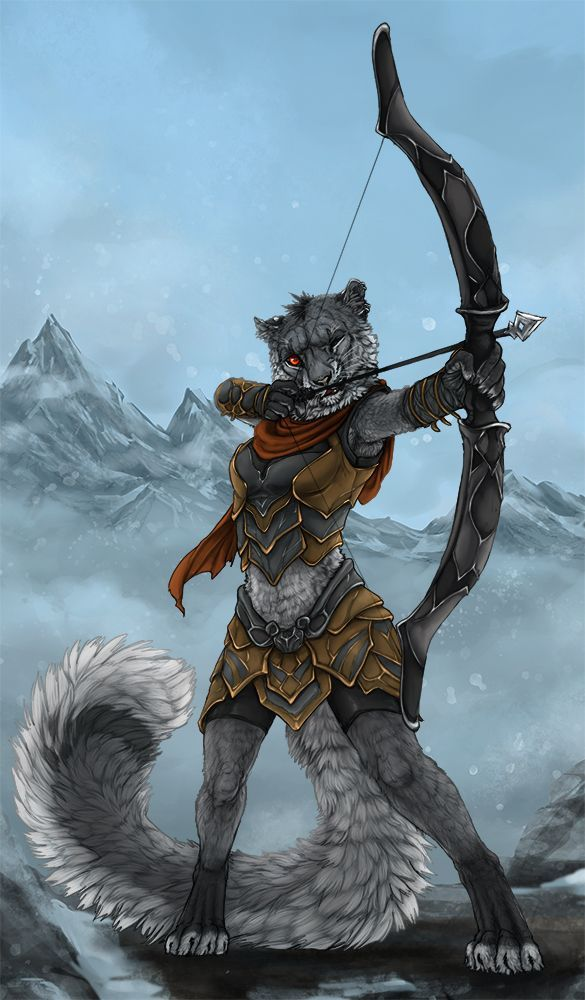 Image Result For Dd Female Tabaxi Character Art In 2019 Fantasy