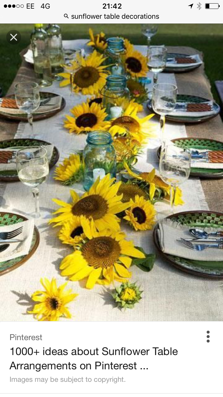 Marvelous Brian And Chelsea The Idea For The Tables I Have In Mind If I Will Be Doing  Them. Sunny Setting    Burlap, Sunflowers And Mason Jars