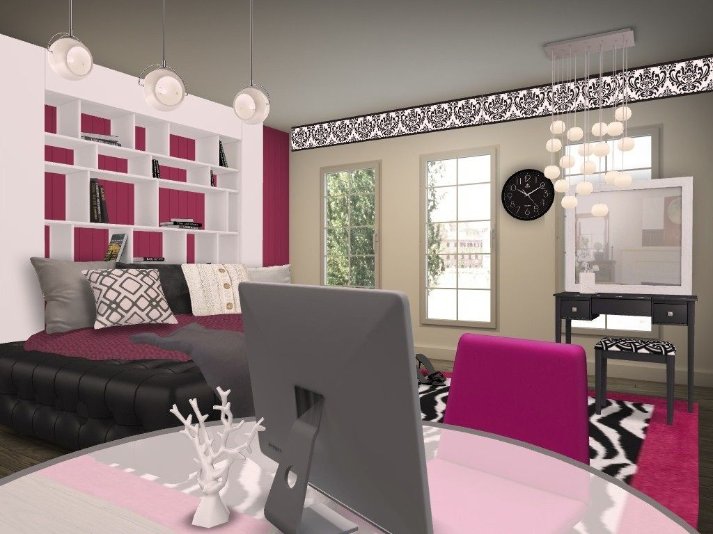 The modern mansion girls room teen girl bedroom idea Bedrooms for girls