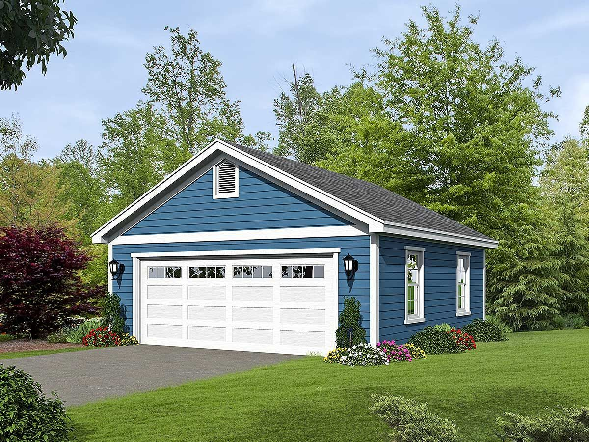 Plan 68470vr 2 Car Detached Garage Plan With Over Sized Garage Door 2car 68470vr Detached Door Garage Oversize In 2020 Garage Doors Garage Door Types Garage Plan