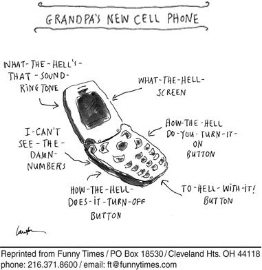 Cartoon Of The Week For October 15 2008 Newest Cell Phones Cell Phone Comparison Funny Times
