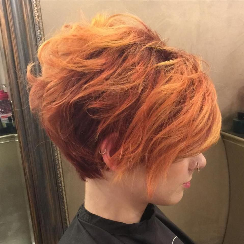 Short red hairstyle with subtle copper highlights short hairstyles