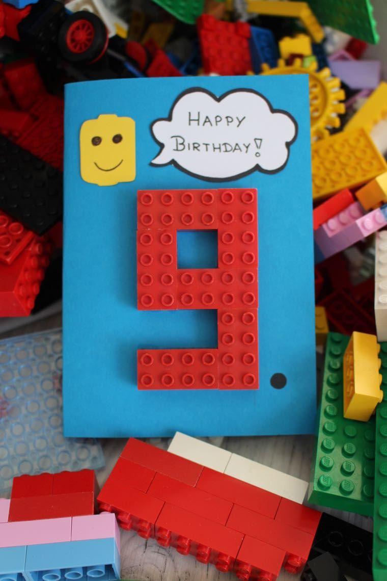 Glückwunschkarte Für Legofans Basteln Mit Meinen Kidis