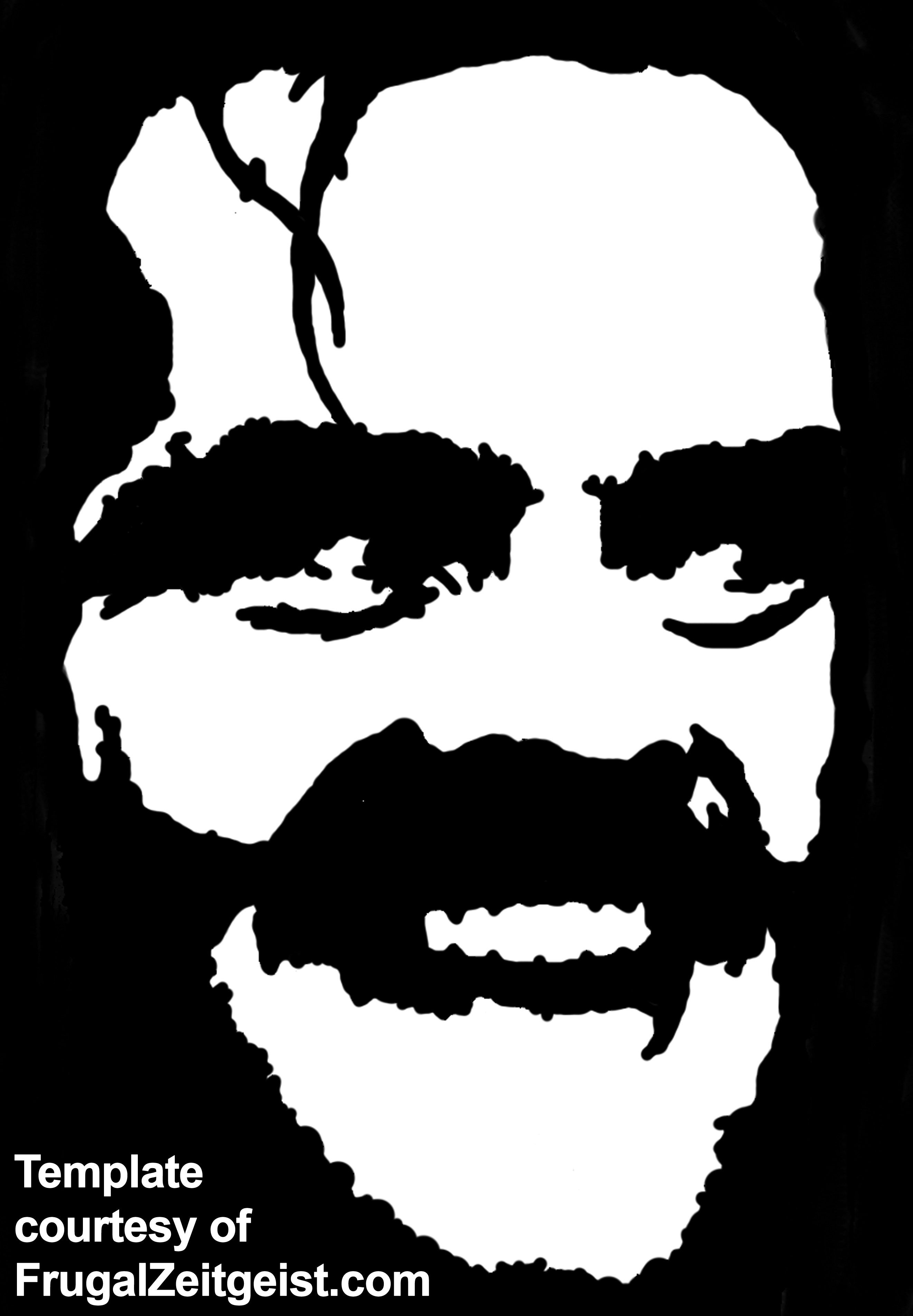 free pumpkin templates | Free Jack Nicholson The Shining Pumpkin ...