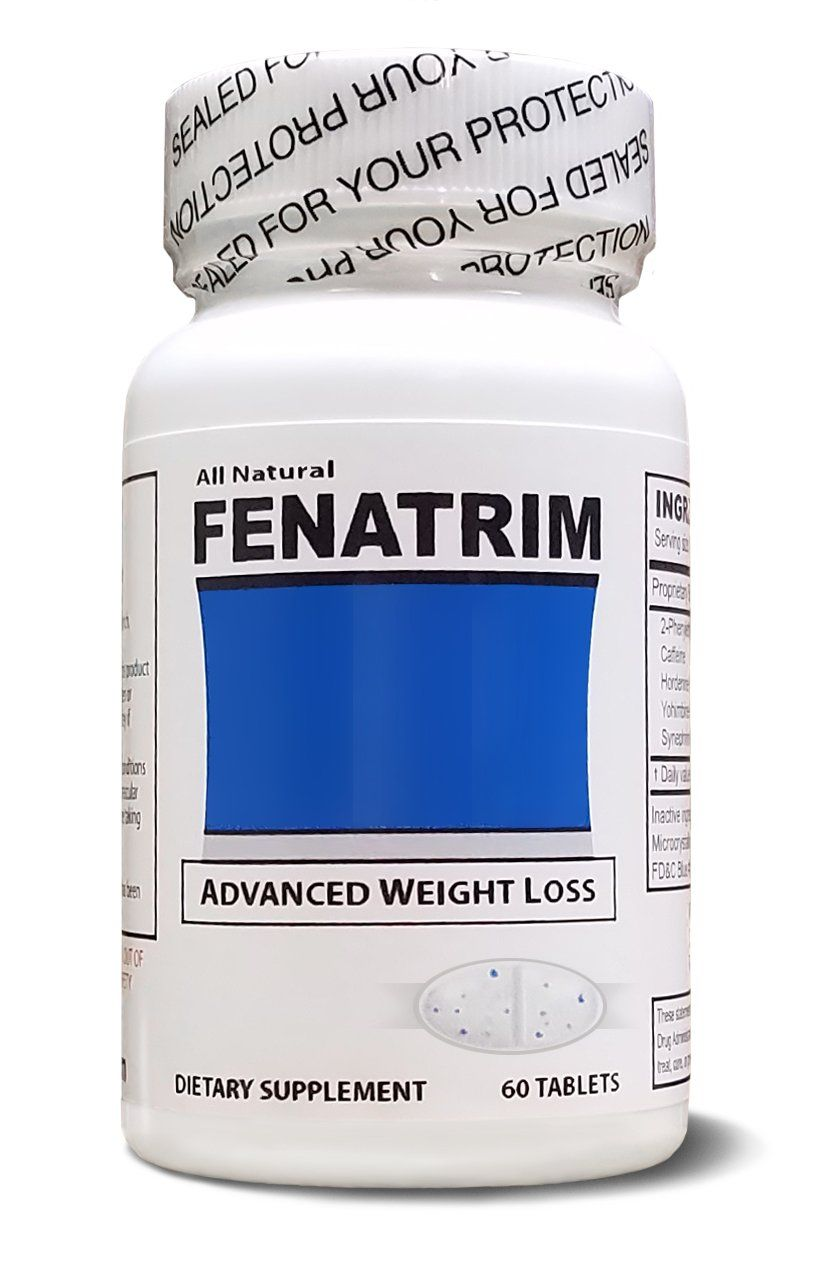 Fenatrim Weight Loss Diet Pills One Bottle 60 Oval Tablets