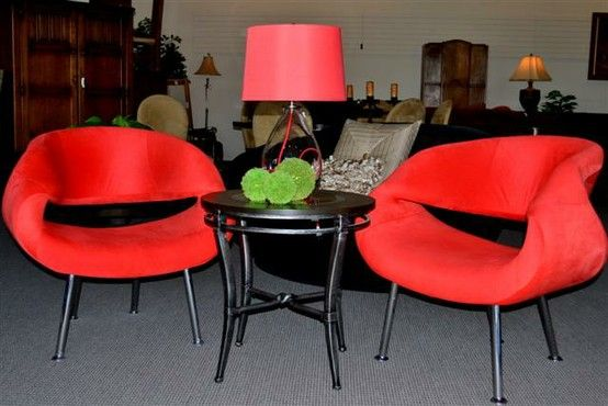 Great Moderno Lipstick Red Chairs Found At Design With Consignment In Austin,  Tx. DWConsignment