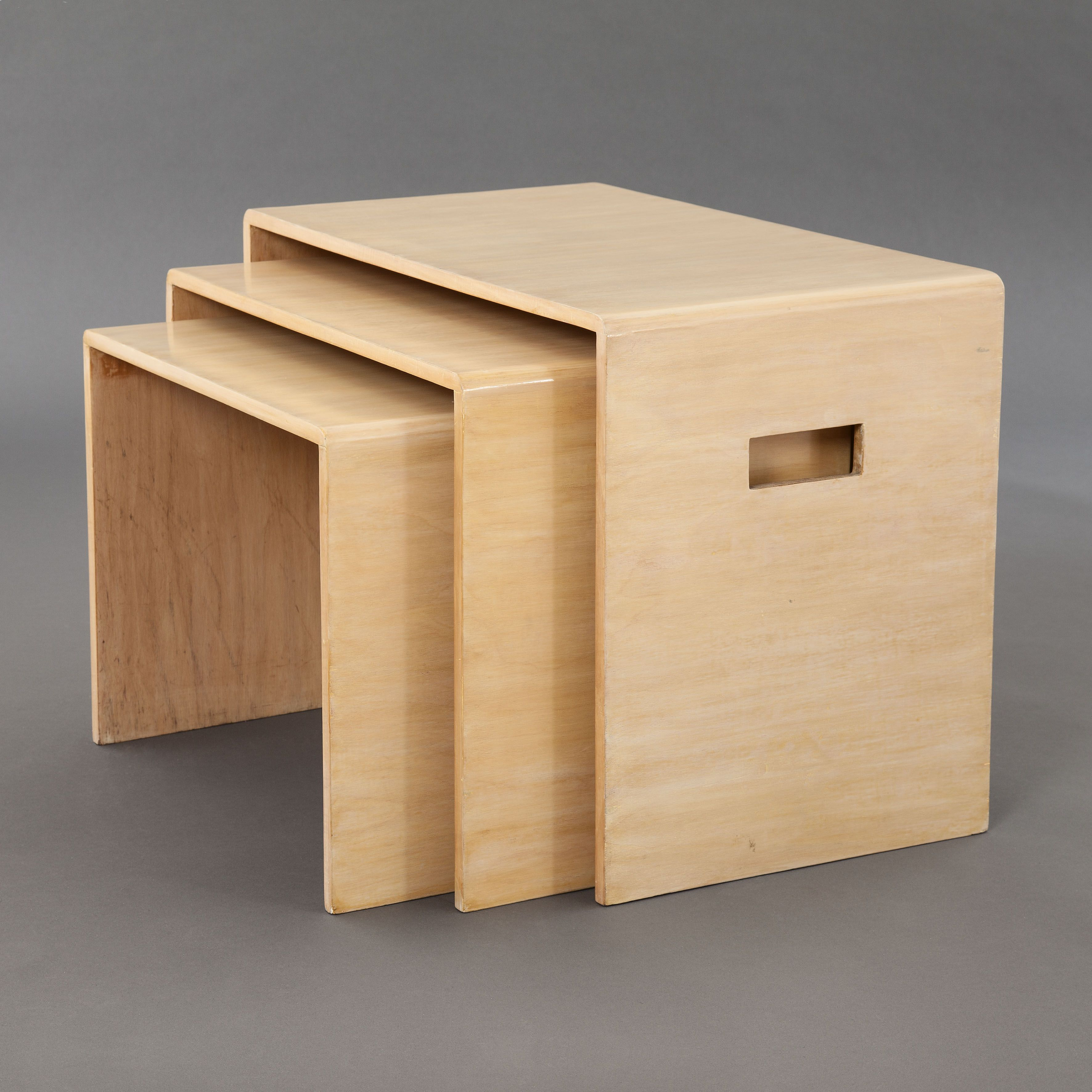 Gerald Summers; Birch Plywood Nesting Tables For Makers Of Simple Furniture,  1933.