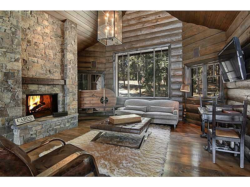 modern industrial log cabin style cb home living spaces