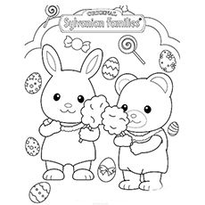 Print Coloring Image Easter PagesColouring PagesColoring BooksSylvanian FamiliesHolidayWoodland