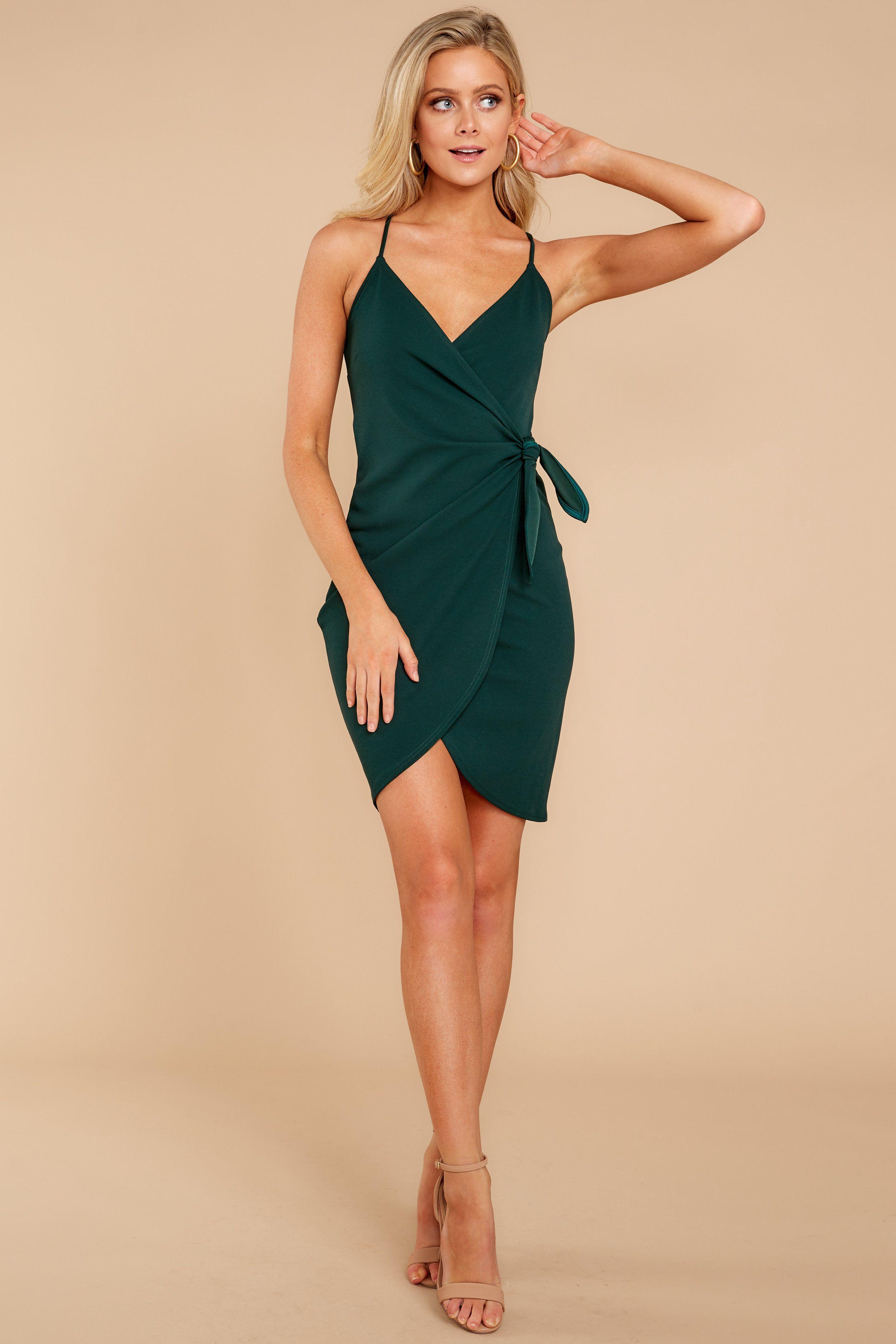 2fc98beb937d Hunter Green Wrap Dress - Sexy Dress - Dress -  38.00 – Red Dress Boutique