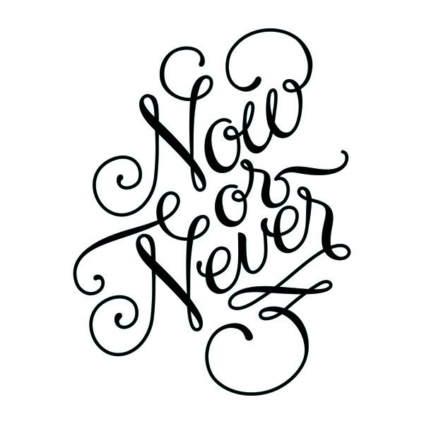 Now or Never (Script) | Tattly Designy Temporary Tattoos | Made in the US, shipped around the world!