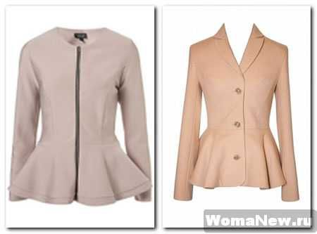 Pattern peplum jacket/Выкройка жакета баской | Sewing - coats ...