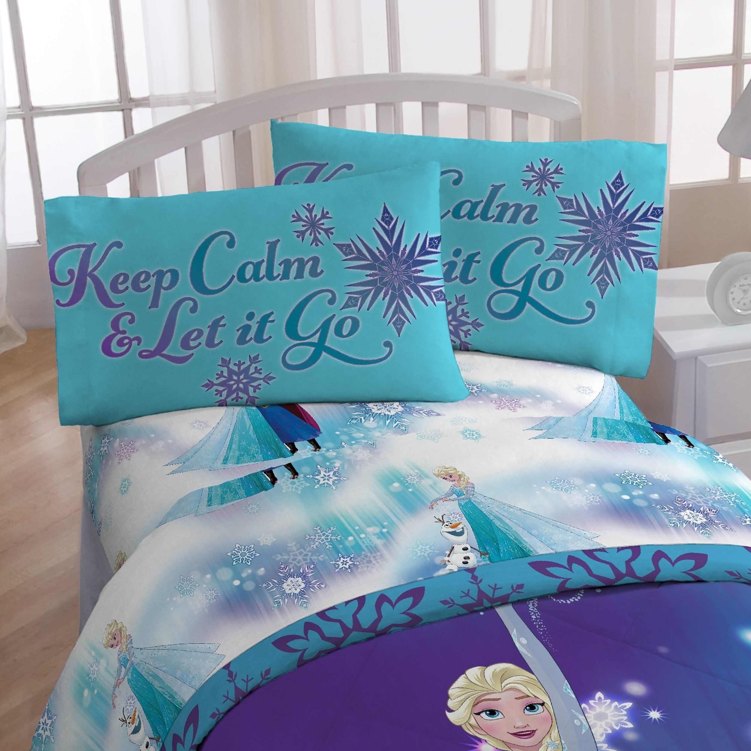 Disney Frozen Magical Winter 4 Piece Twin Bed In A Bag Blue