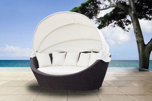 Poly-Rattan Sonneninsel Lounge Liegeinsel XXL » günstig kaufen - rattan gartenmobel gunstig