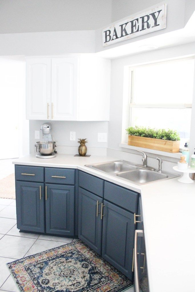 10x10 Girls Bedroom: Our Navy Kitchen Reveal – Within The Grove In 2020