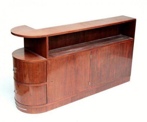 Art Deco 1920-30 Meuble D'angle Moderniste Style Paquebot