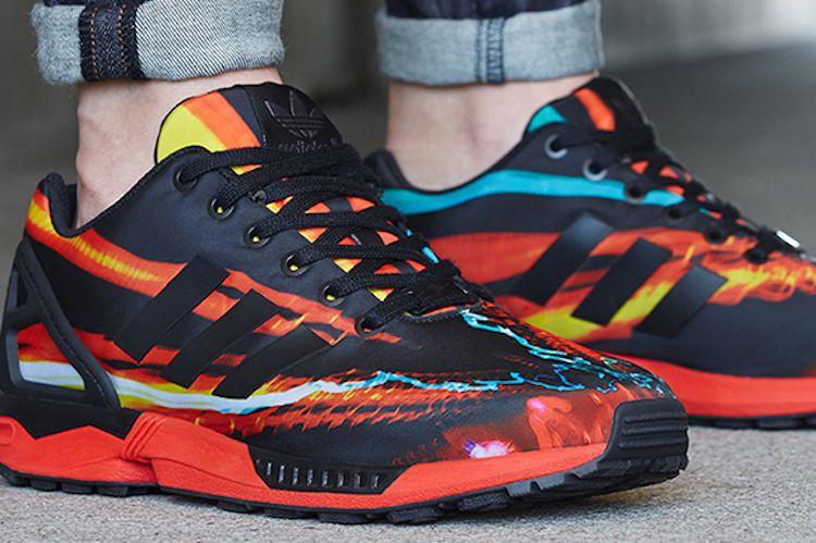 zapatos adidas flux rojos hombre