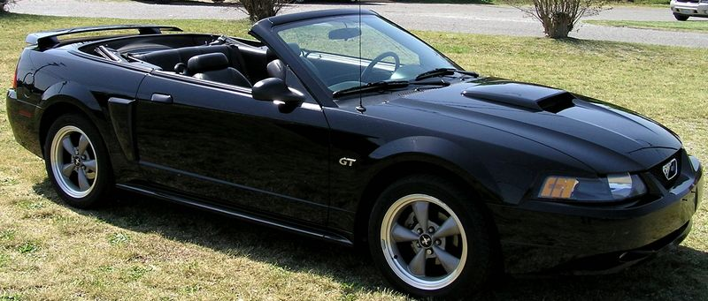 2001 Ford Mustang Gt Convertible Black