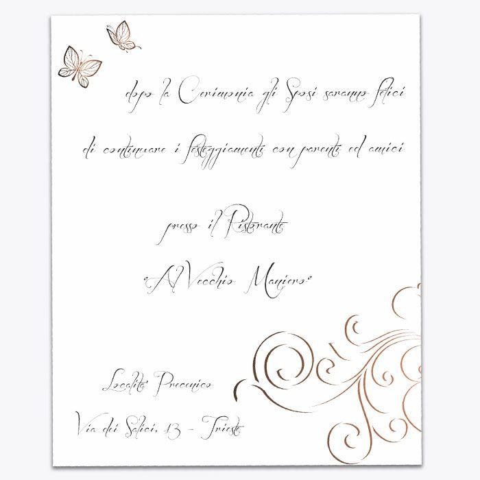 Invito Di Matrimonio Filigrana Partecipazione Partecipazione Di Matrimonio Matrimonio