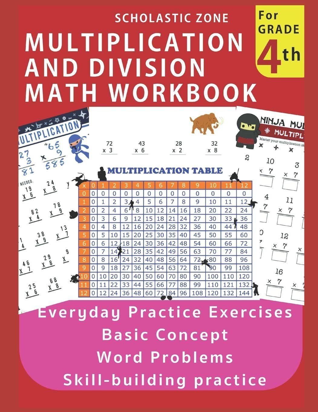 4th Grade Math Review Worksheets Multiplication And