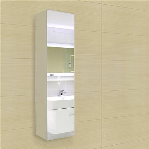 Ariane Tall Mirrored Bathroom Wall Cupboard 120x30x24cm