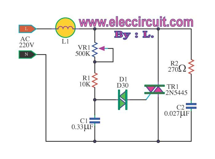 dimmer circuit using scr triac eleccircuit com neat rh pinterest com