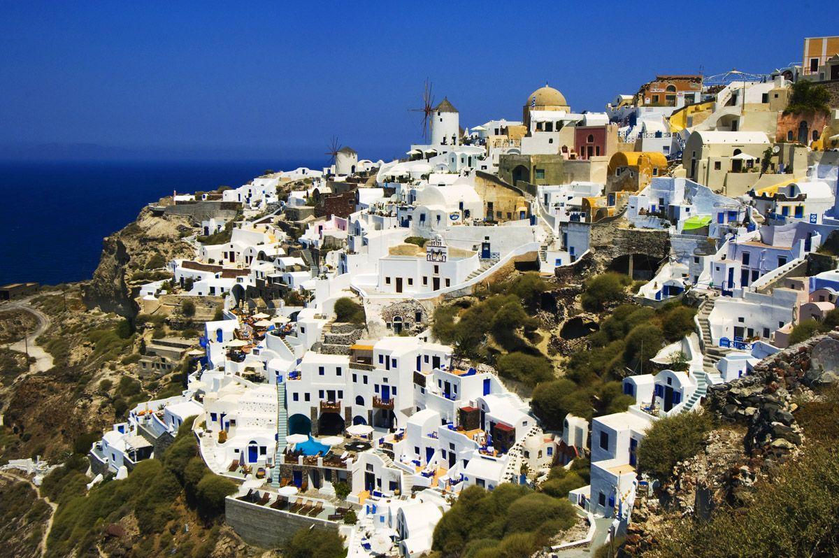 Santorini Greece Community On The Island Of Thera Santorini