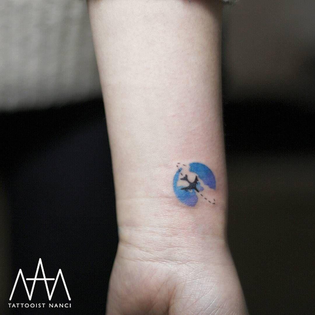 22 Minimalistic Wrist Tattoo: Small Travel Tattoos | Wrist