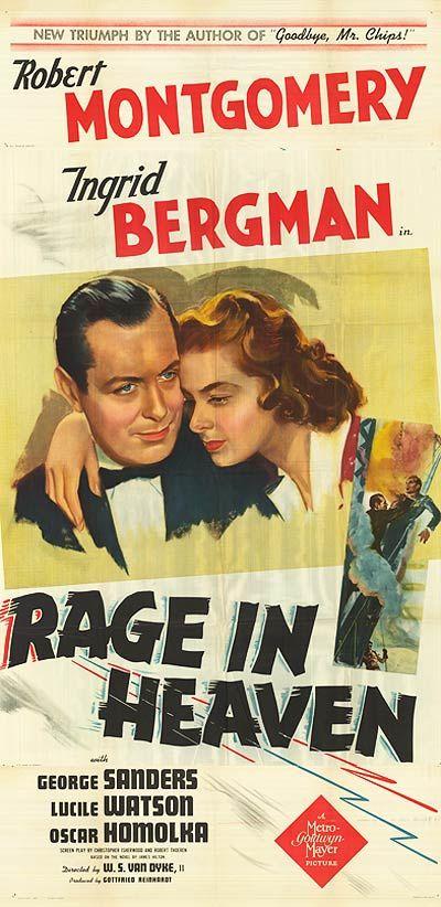 Rage in Heaven (1941)   Rage, Heaven, Film noir