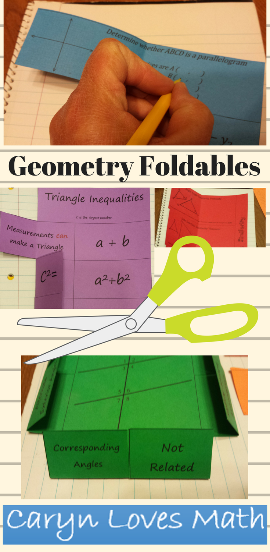 High School Geometry Foldable Bundle10 setsTriangles