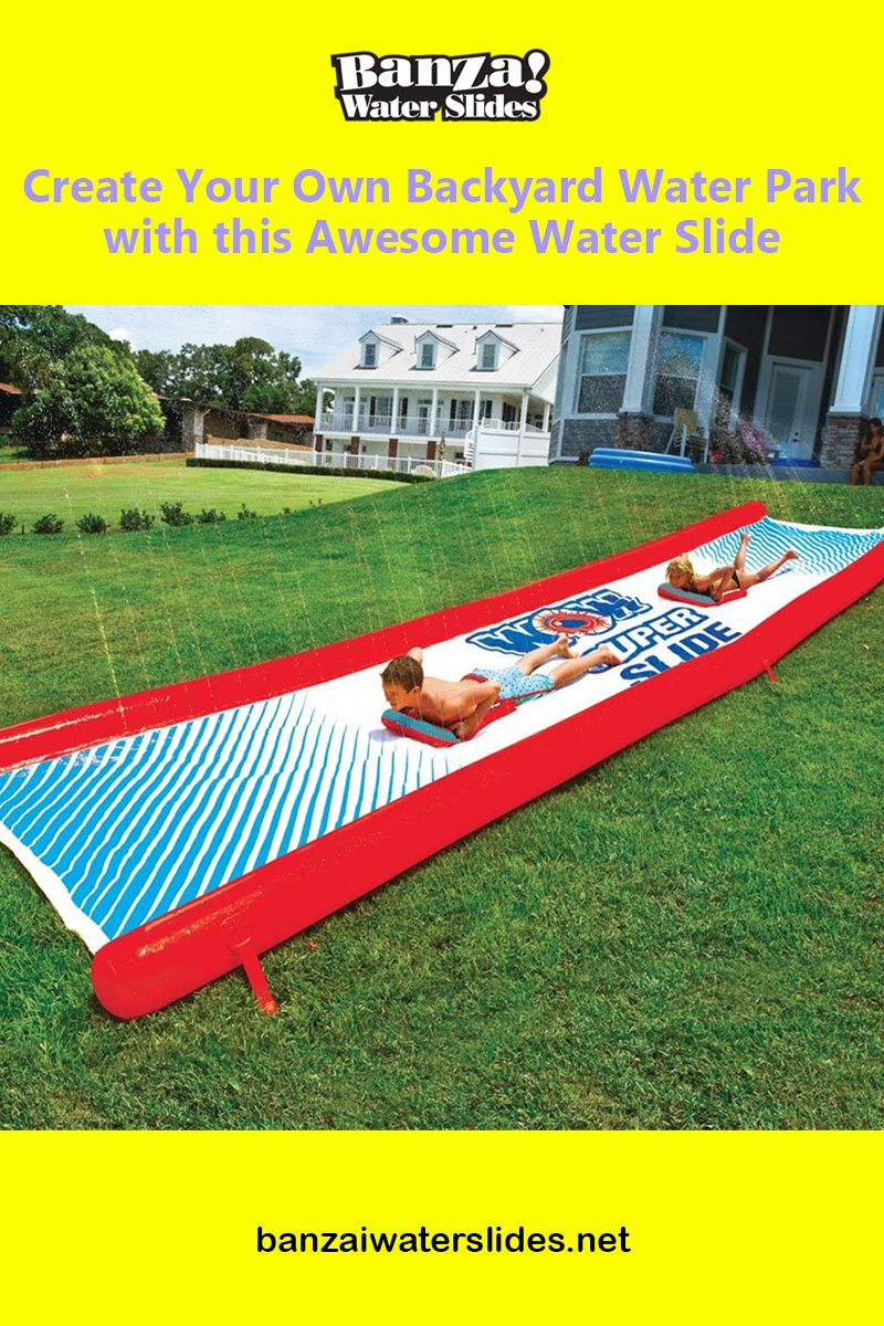 Create your own backyard water park with this awesome ...