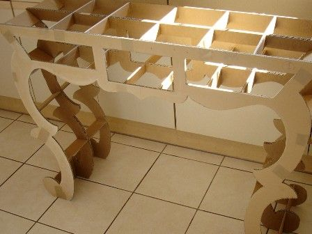 Structure De La Console H Llebore Design En Carton Bricolages En Carton Artisanat En Carton