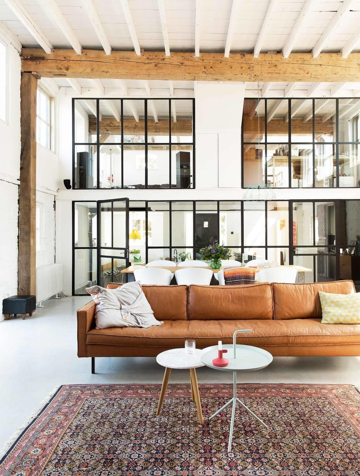 Brown Leather Couch | Interior design, Home, Interior
