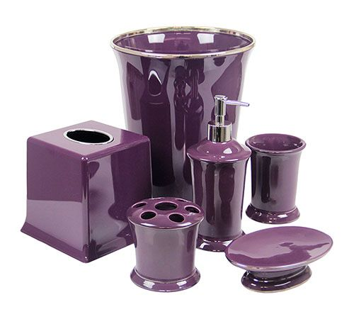 Regal Purple Bathroom Accessories Deluxe Set Purple Bathrooms Purple Bathroom Accessories Purple Bathroom Decor